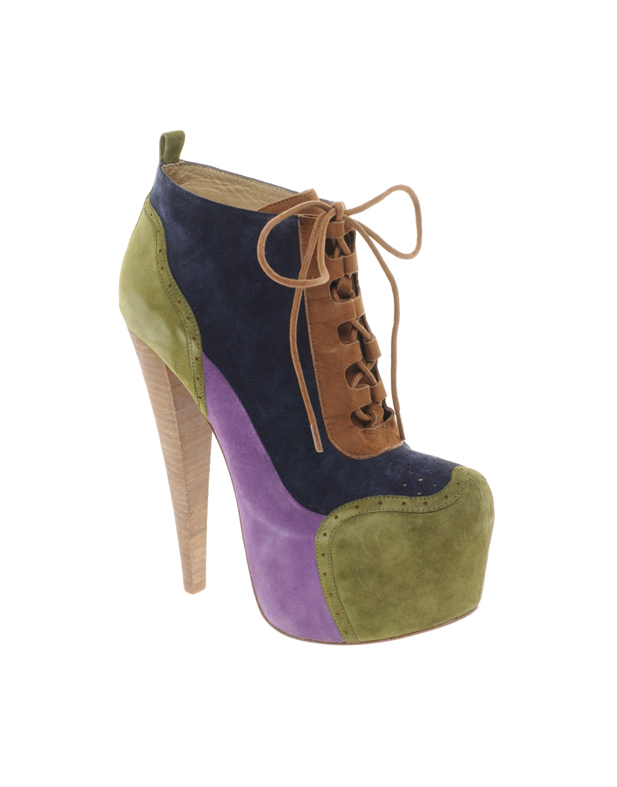 ALDO Rise x Preen Rosann Multi Platform Heeled Ankle Boots