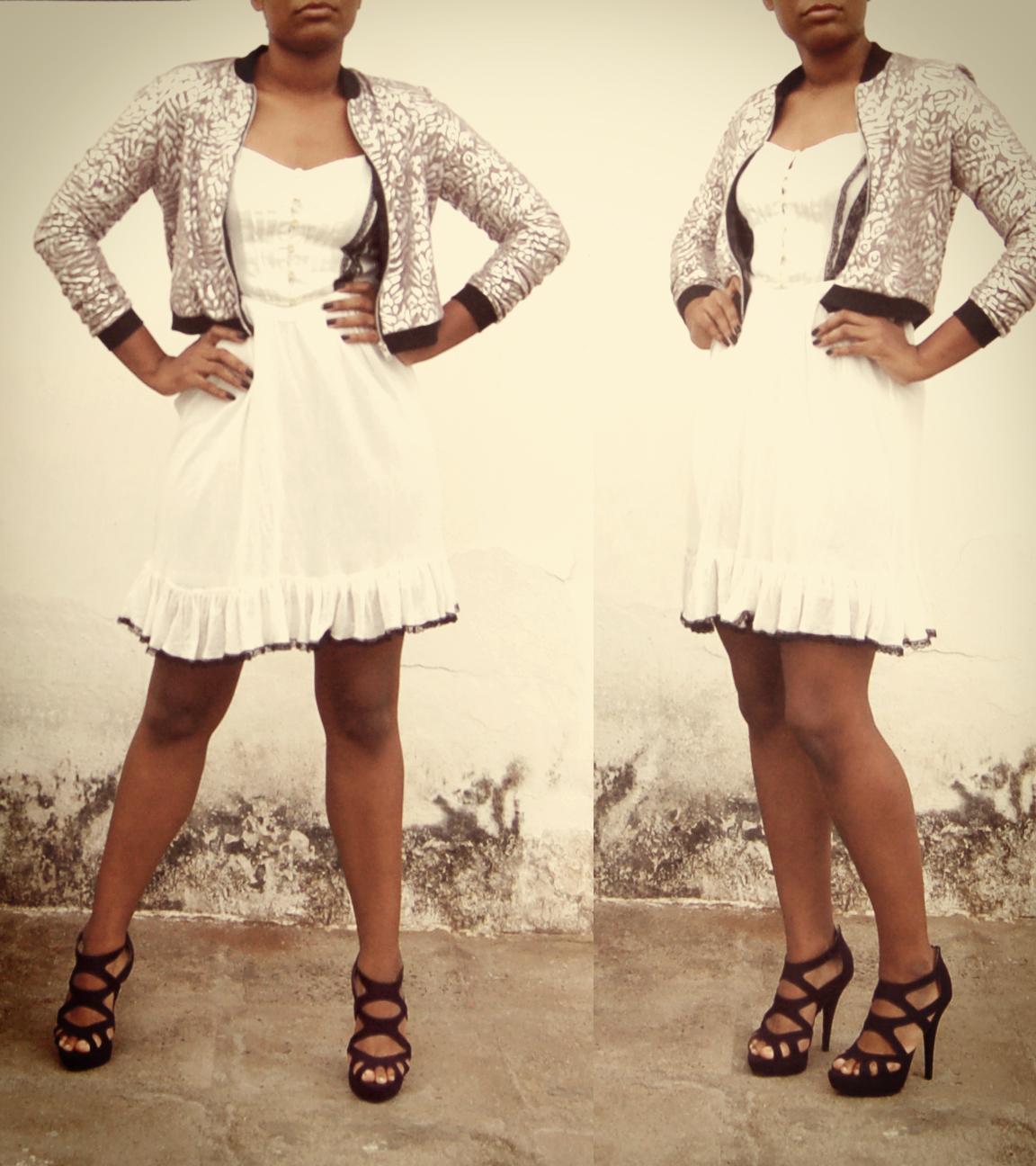Jacket, Asos; Dress, Mango; Shoes; New Look. // Jaqueta, Asos; Vestido, Mango; Sapatos; New Look.