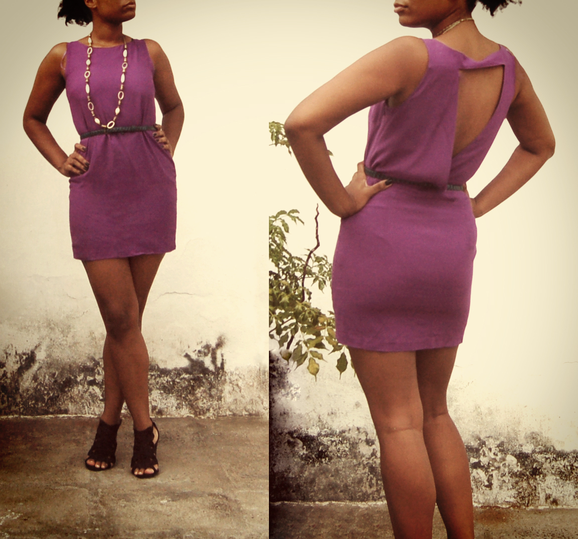 Dress, Zara; Belt, Mango; Shoes, Zara; Necklace, Vintage. // Vestido, Zara; Cinto, Mango, Sapato, Zara; Cinto, Vintage.