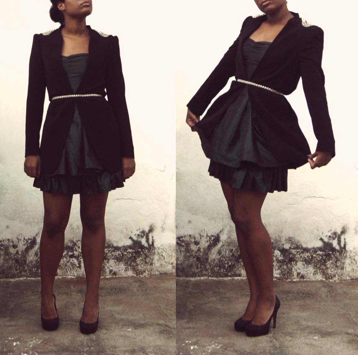 Trench, Zara; Dress, H&M; Belt, vintage; Pumps, Zara. // Trenchcoat, Zara; Vestido, H&M; Escarpim, Zara.