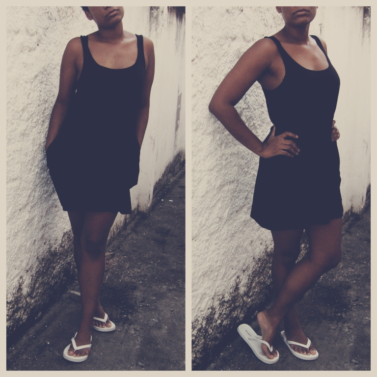Dress, H&M; Flip flops, Old Navy || Vestido, H&M, Chinelos, Old Navy
