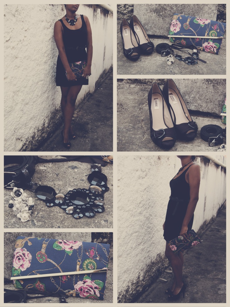 Necklace, archive; Peep toes, Zara; Ring, H&M; Belt, Renner; Clutch, ASOS || Colar, Arquivo pessoal; Peep toe, Zara; Anel, H&M; Cinto, Renner; Clutch, Renner