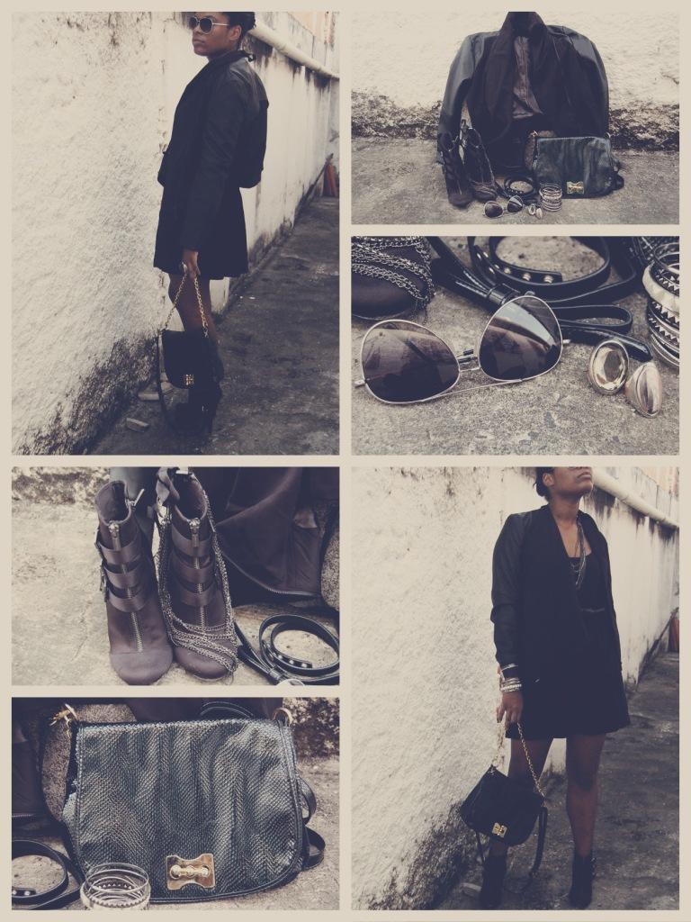 Handbag, Marisa; Sunglasses and Boots, Bershka; Necklace and Bangles, archive; Rings, H&M; Belt, Primark; Jacket, Romwe || Bolsa, Marisa; Óculos e Botas, Bershka; Colar e Pulseiras, arquivo pessoal; Anéis, H&M; Cinto, Primark; Jaqueta, Romwe