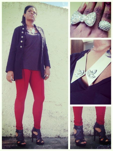 Leggings, CycleLand; Coat, New Look; Shoes and top, Zara; Necklace, ASOS; Rings, H&M and archive || Leggings, CycleLand; Casaco, New Look; Sapato e top, Zara; Colar, ASOS; Anéis, H&M e arquivo