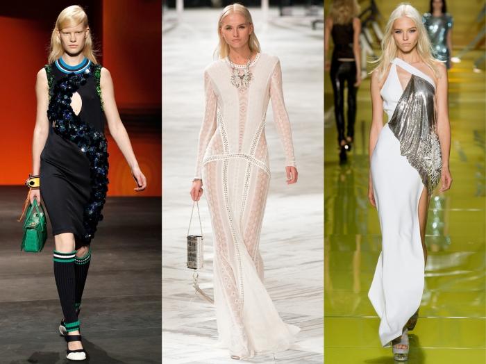 Prada, Roberto Cavalli, Versace